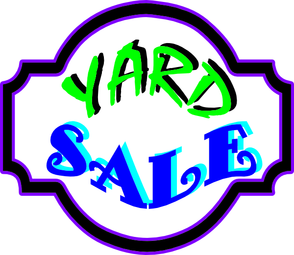 600x521 Yard Sale Sign Clip Art