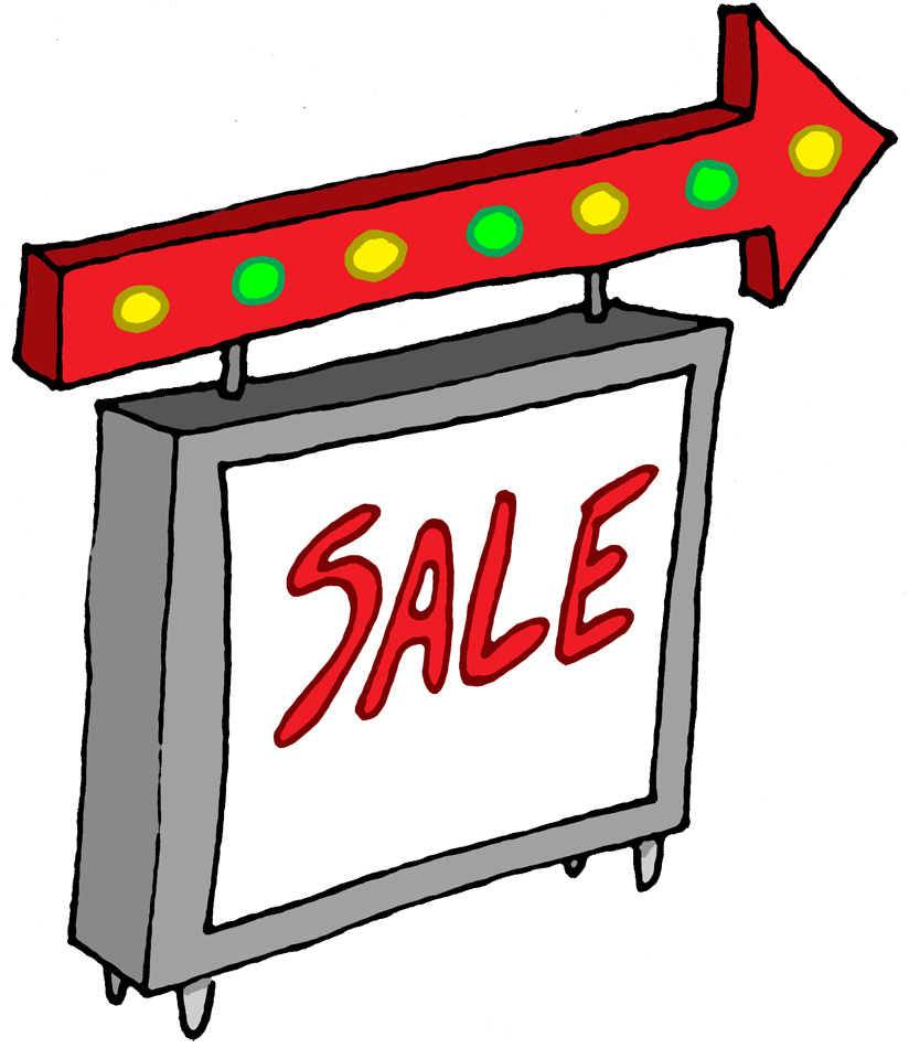 824x950 Clipart For Sale Sign