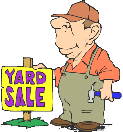395x425 Community Yard Sale Signs Clipart