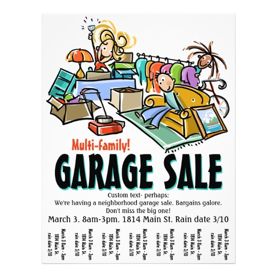 540x540 Garage Sale. Moving Sale. Yard Sale Custom Flyer Custom Flyers