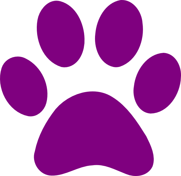 600x583 Free Paw Print Clipart Image