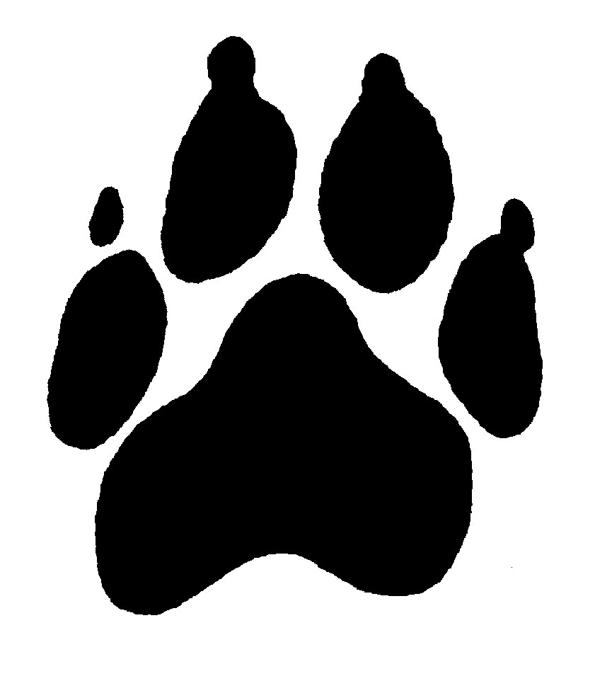 841x962 Paw Prints Panther Paw Border Clipart