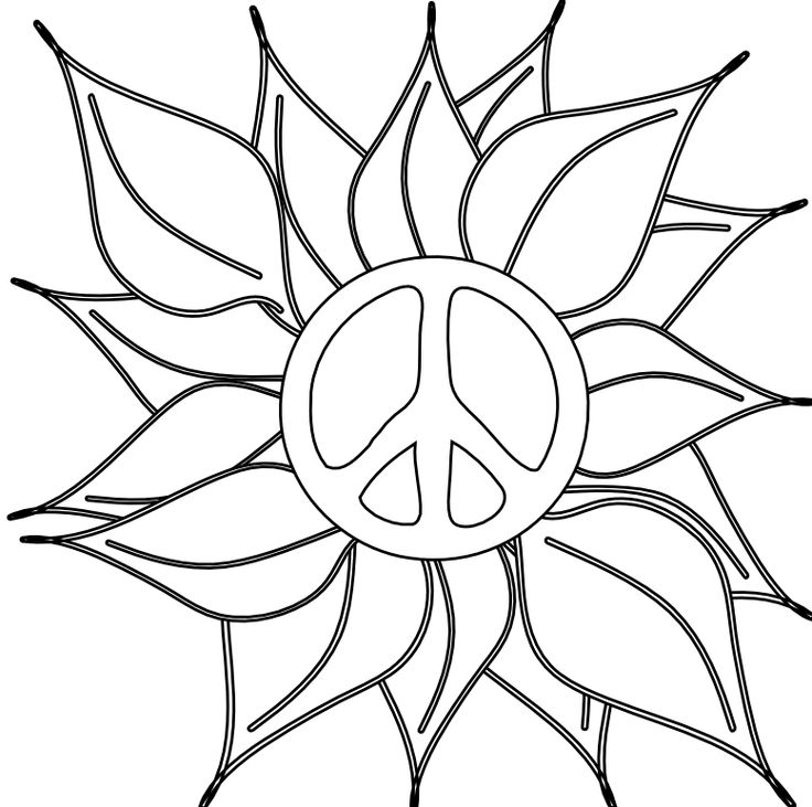 736x731 15 Best Peace Man Images Beach, Coloring Book