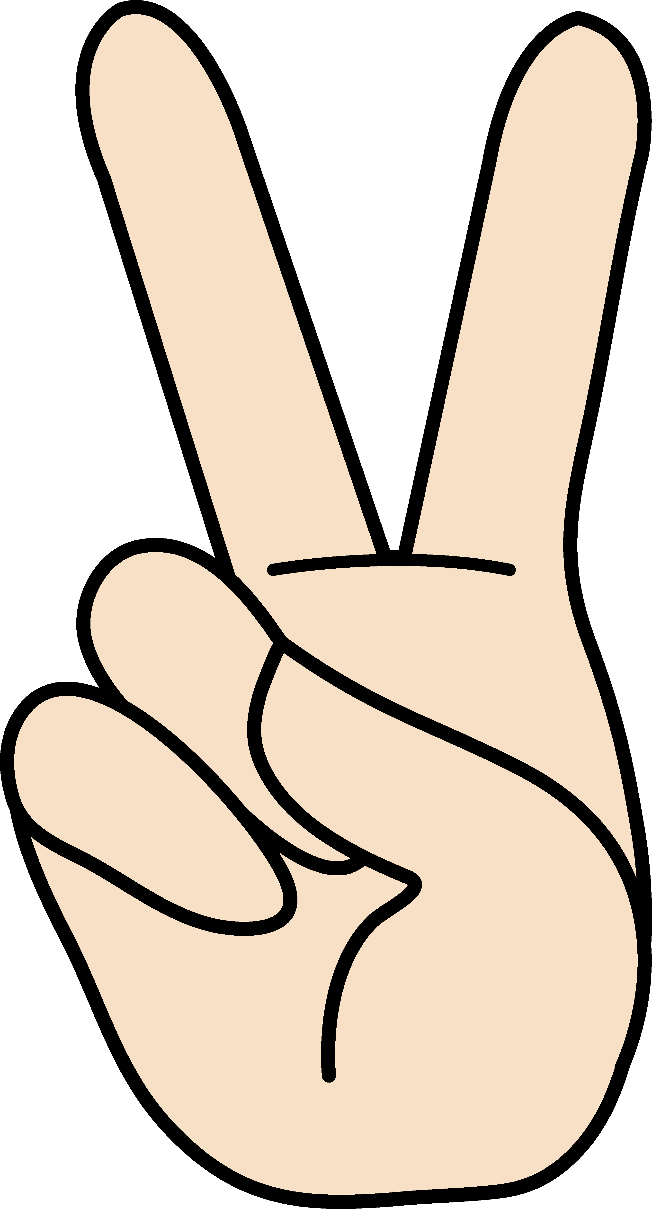 2681x4971 Peace Clipart Two Finger