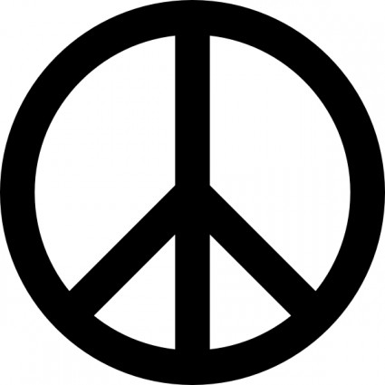 425x425 Peace Sign Clip Art Free Vector In Open Office Drawing Svg
