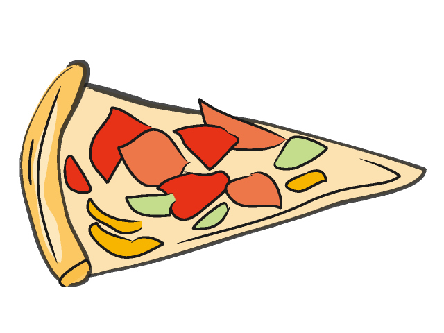 640x480 Pizza Clipart Rectangle