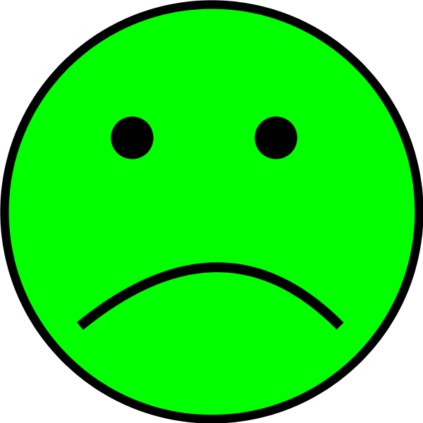 600x600 Green Sad Face Clipart