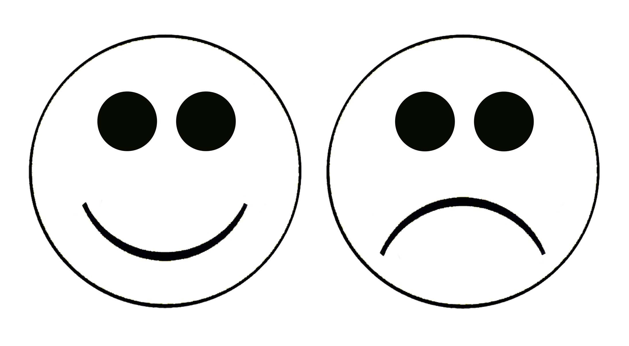 2192x1206 Happy Sad Face Clip Art