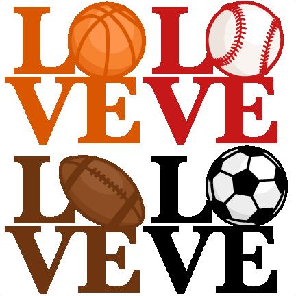 432x432 Love Sports Titles Svg Scrapbook Cut File Cute Clipart Clip Art