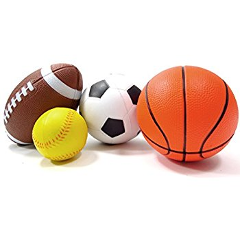 350x350 Set Of 4 Sports Balls For Kids (Soccer Ball