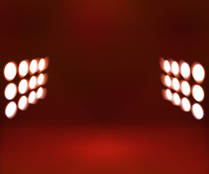 300x250 Red Dark Spotlights Room Royalty Free Stock Image