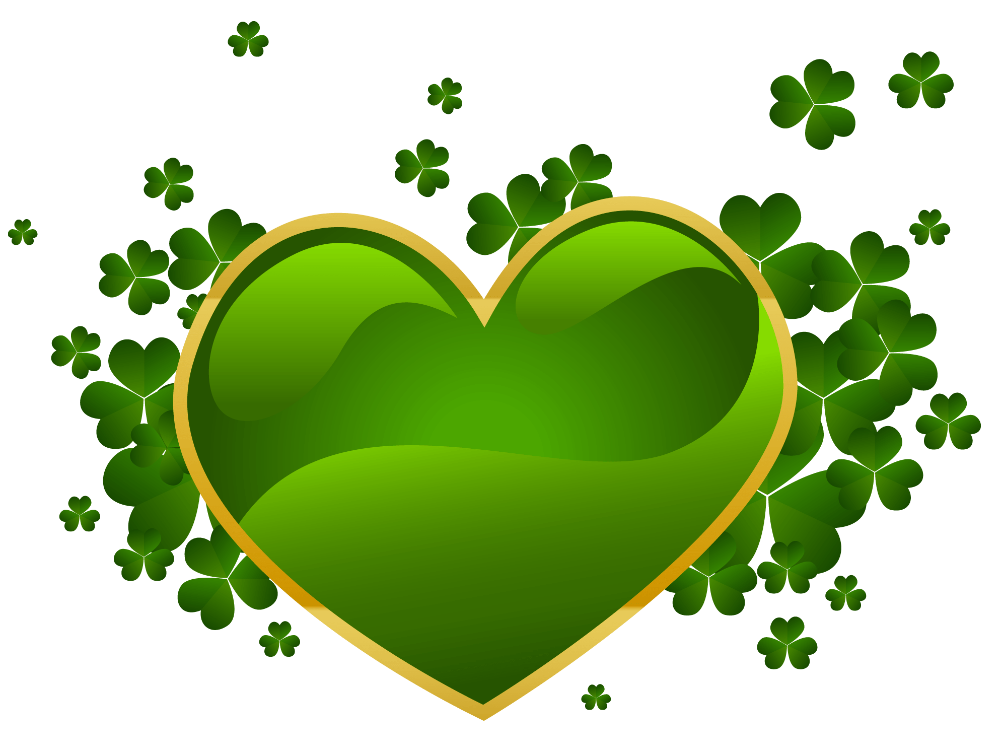 1990x1501 Happy St Patrick's Day Green Heart Transparent Png