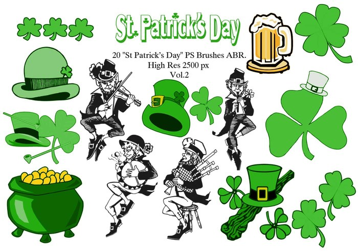 700x490 20 St Patricks Day Ps Brushes Abr. Vol.2