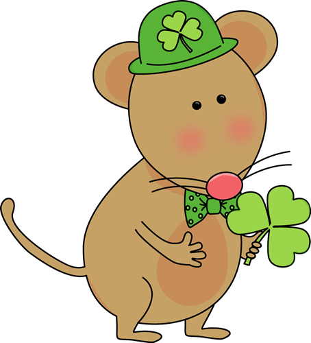 454x500 Saint Patrick's Day Mouse Clip Art