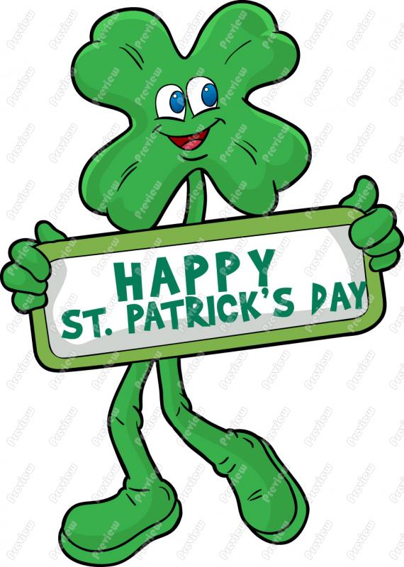 570x800 St Patrick Day Shamrock Clip Art