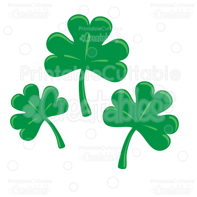 650x650 St. Patrick's Day Shamrocks Clipart Amp Free Svg Cut Files