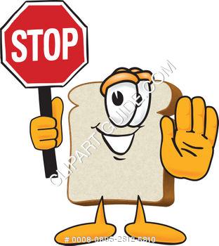 312x350 Cartoon Stop Sign Clipart