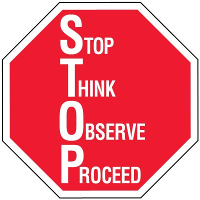 400x400 Stop Signs, Stop Ahead Sign, Hand Held Stop Sign Seton
