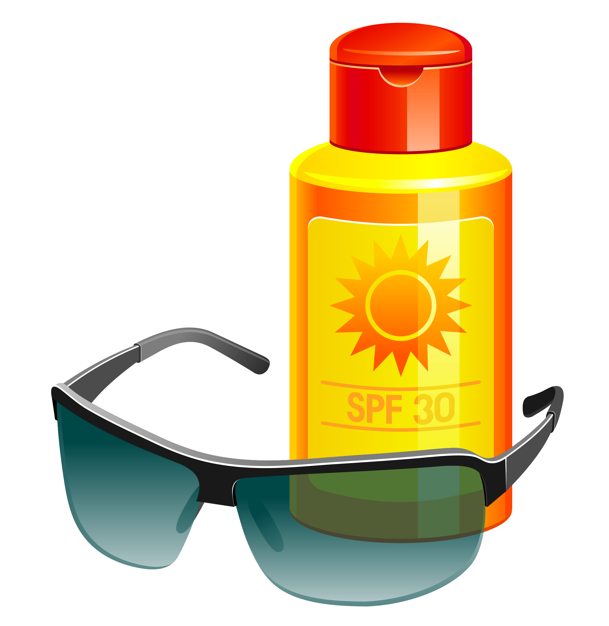 2473x2543 Sunscreen Lotion And Sunglass Png Vector Clipartu200b Gallery