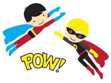 375x281 Superhero Words Superhero For Teachers Clipart 3