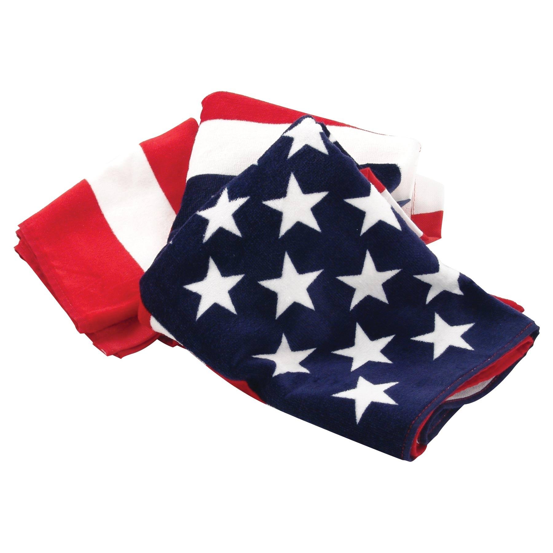 1800x1800 American Flag Beach Towel