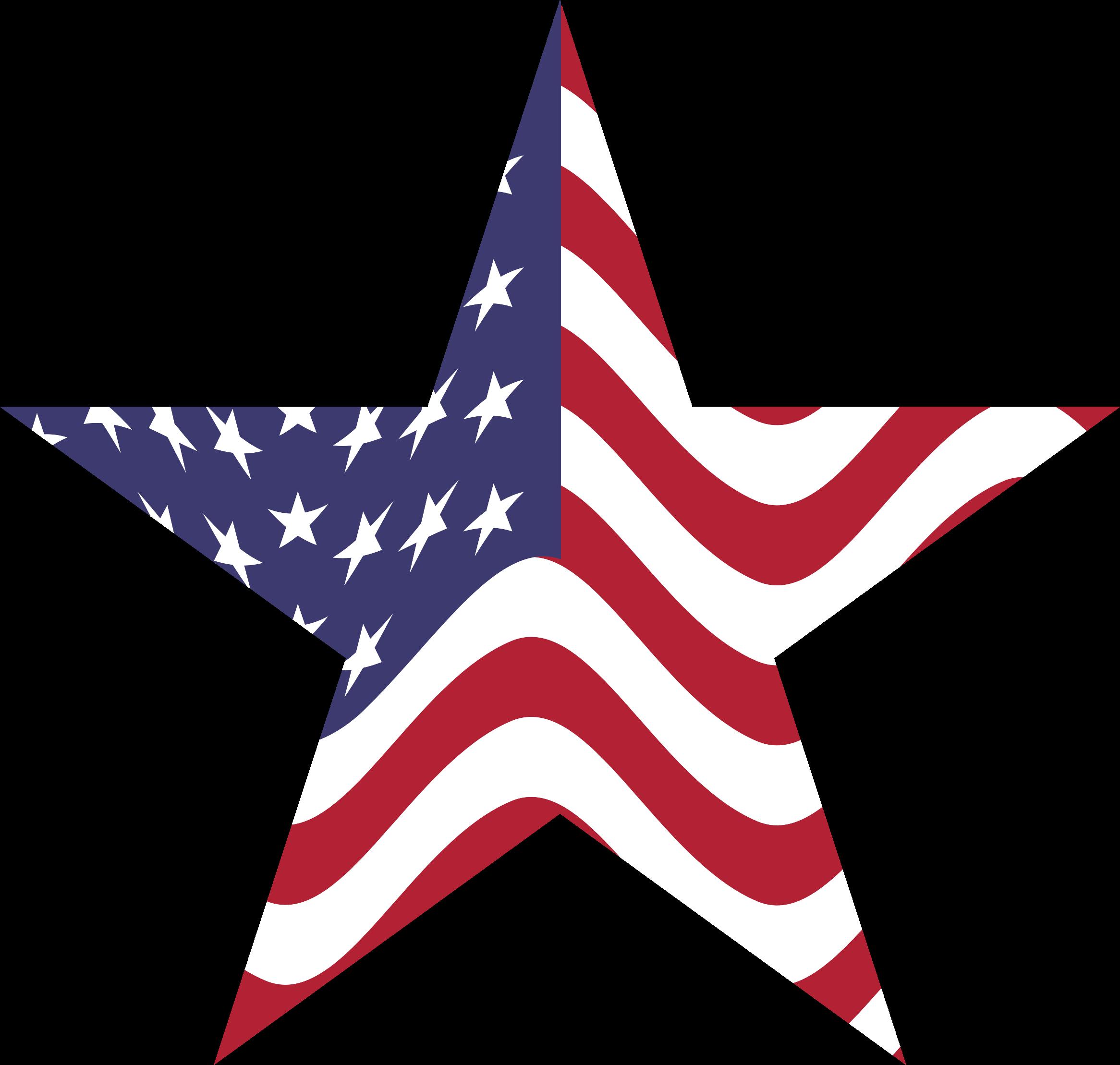 2332x2218 American Flag Star By @gdj, Us Flag Embedded Into A Star.,