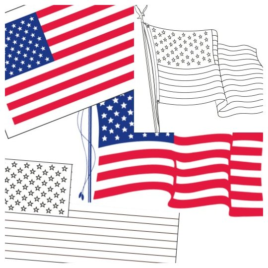 540x540 Free Printable Us Flags Amp American Flag Color Book Pages