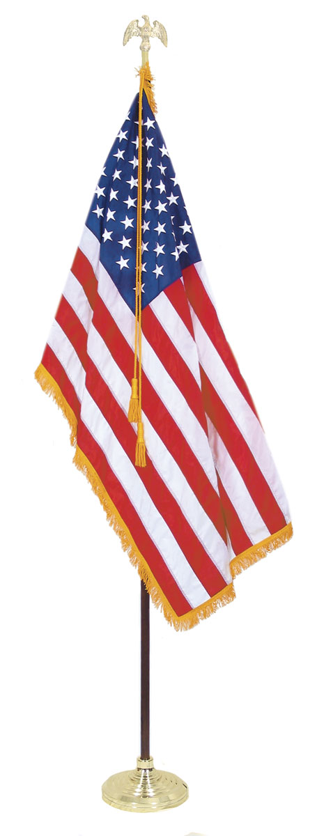 455x1200 Indoor American Flag Set With 5 X 8 Ft Us Flag And 12 Ft Pole