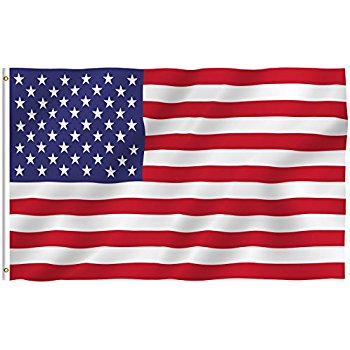 350x350 Us Flag 3x5 Ft (Embroidered Stars