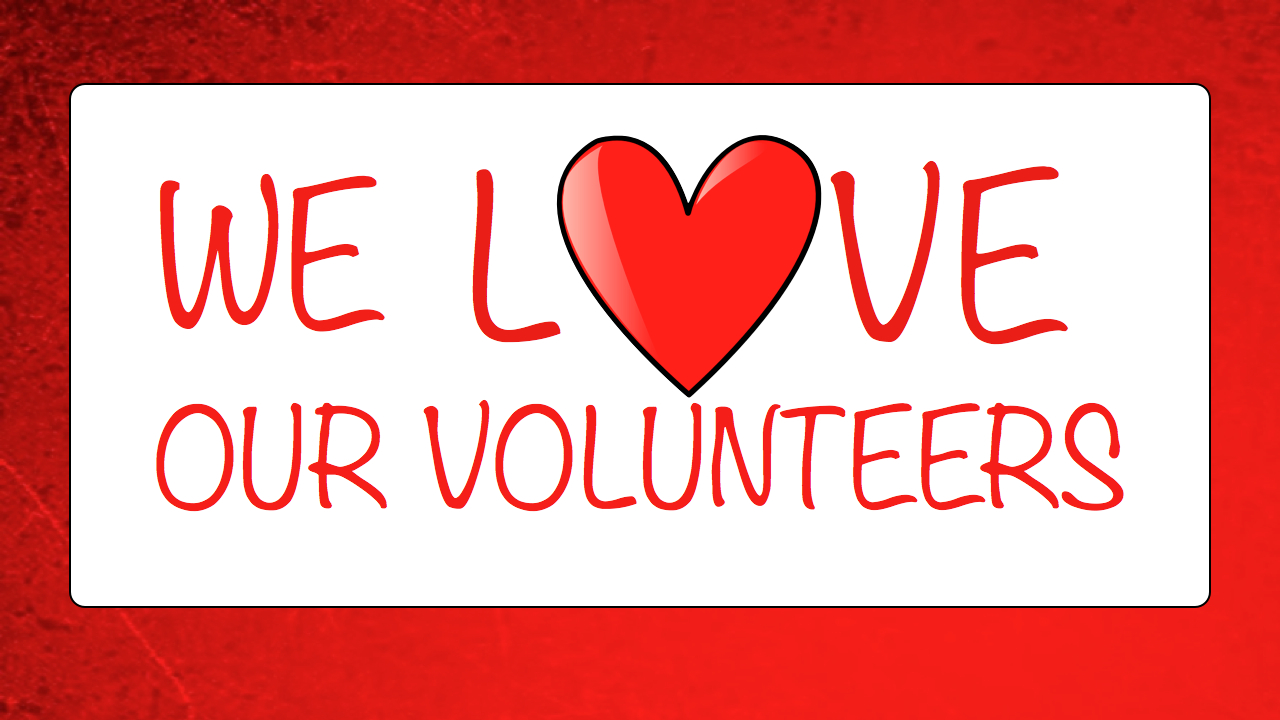 1280x720 We Love Volunteers Clipart