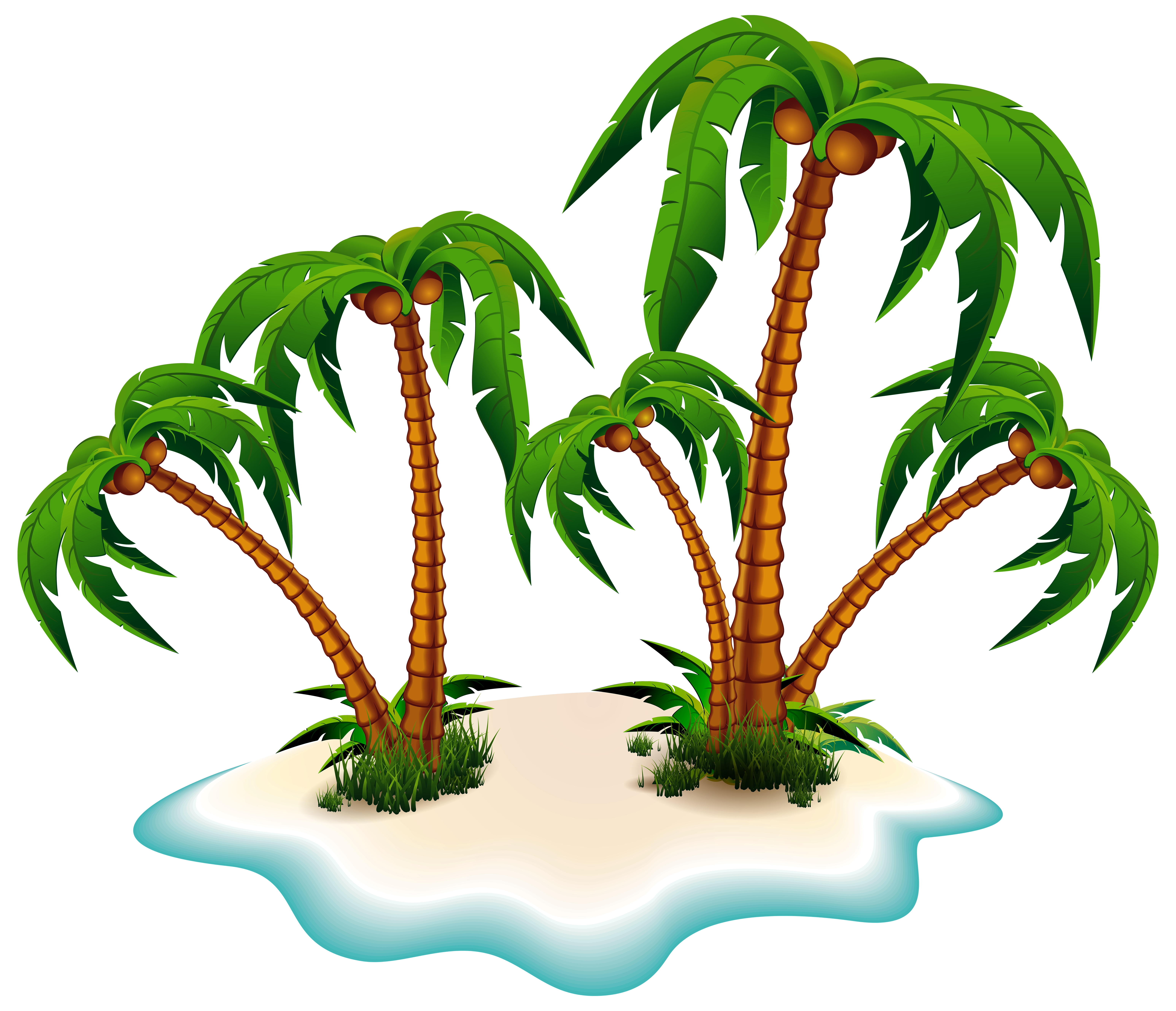 6184x5315 Island Clipart Transparent Background
