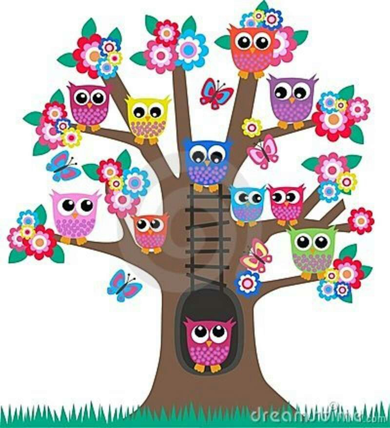 800x878 Funky Clipart Colourful Tree
