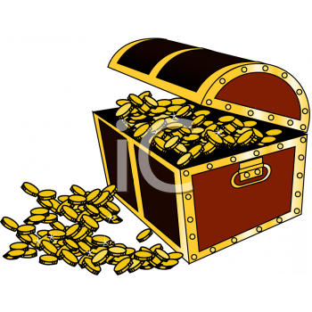 350x350 Gold Treasure Clipart