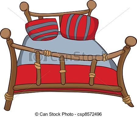 450x384 Bed Clipart Red