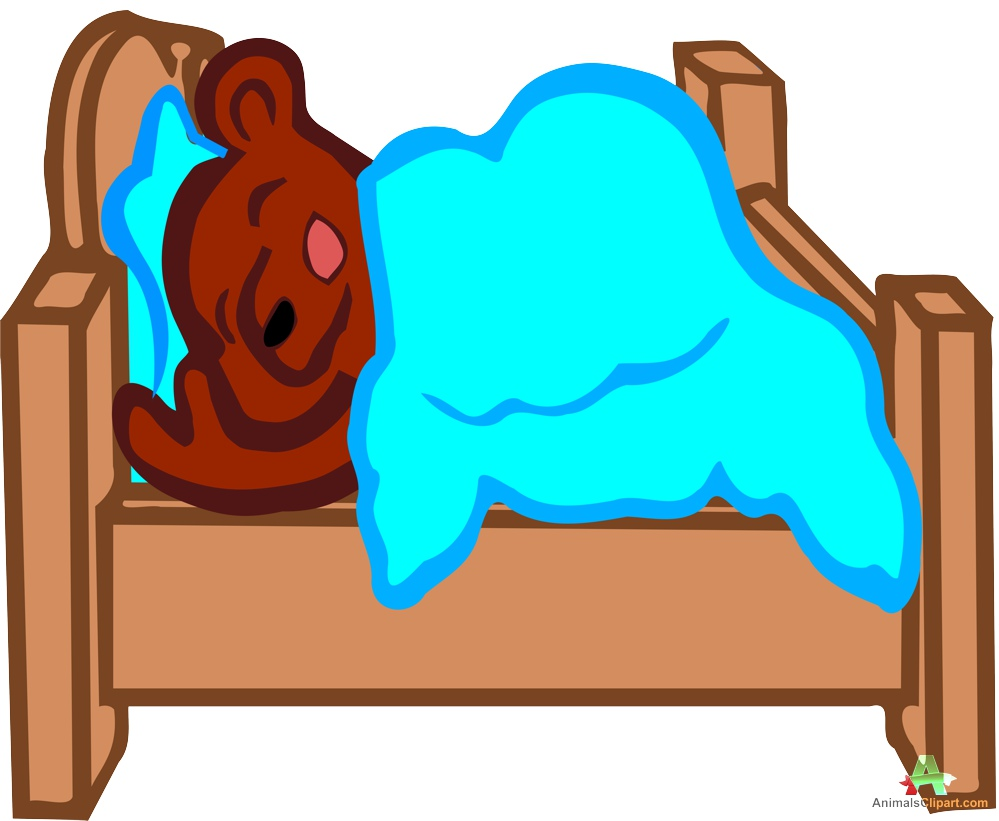 999x821 Sleeping Bear In Bed Clipart Free Clipart Design Download