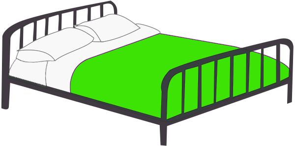 600x297 Bed Clip Art