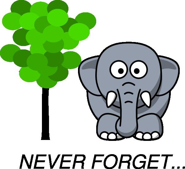 600x547 Elephant Clipart Memory