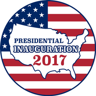 320x320 Vector Presidential Inauguration 2017 Icon. Design Element Stock