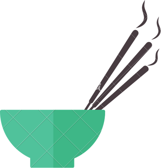 527x550 Bowl With Incense Sticks