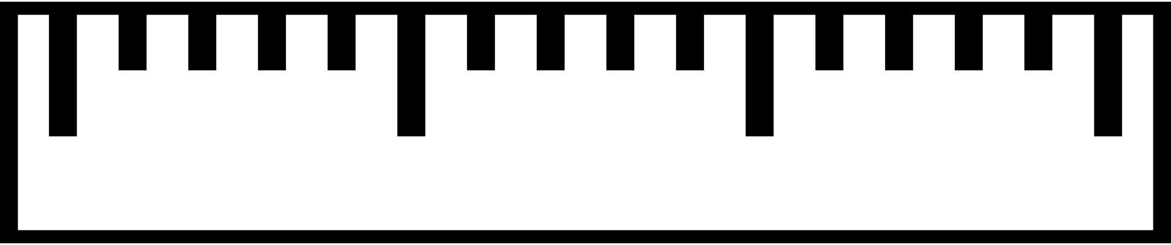 2400x504 Inch Ruler Clipart