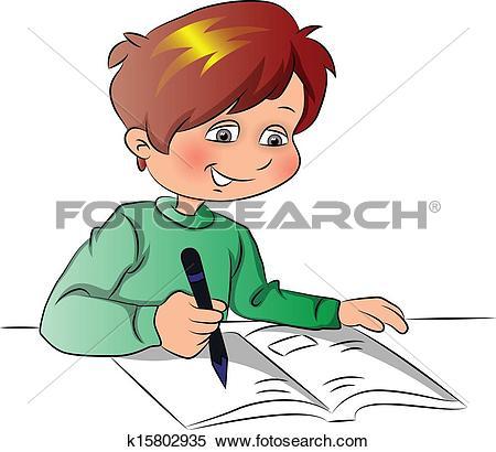 450x410 Schreibendes Kind Clipart