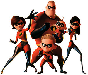 300x255 The Incredibles Family T Shirt Iron On Transfer 8x10 Or 5x7 Light