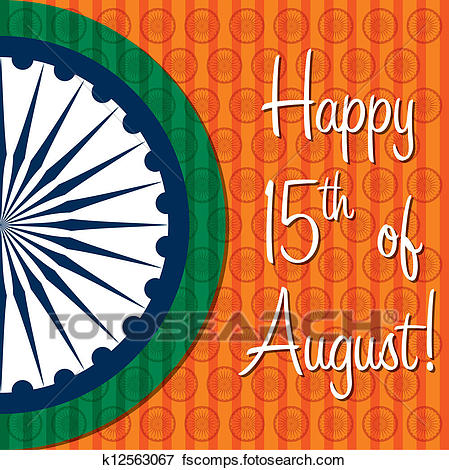 449x470 Clip Art Of Happy Indian Independence Day! K12563067
