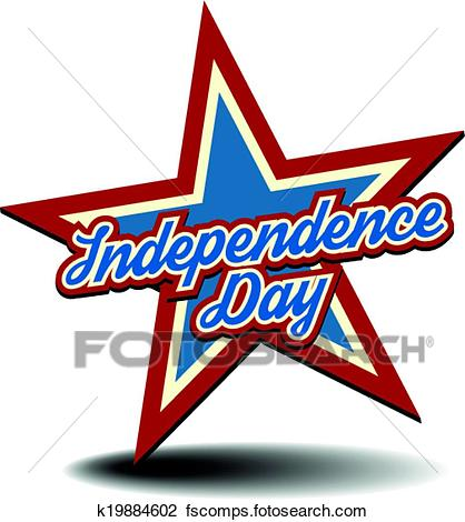 418x470 Clipart Of Independence Day Star K19884602