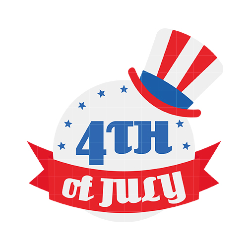 504x504 Fourth July A Independence Day Free Clip Art Happy 4th Text