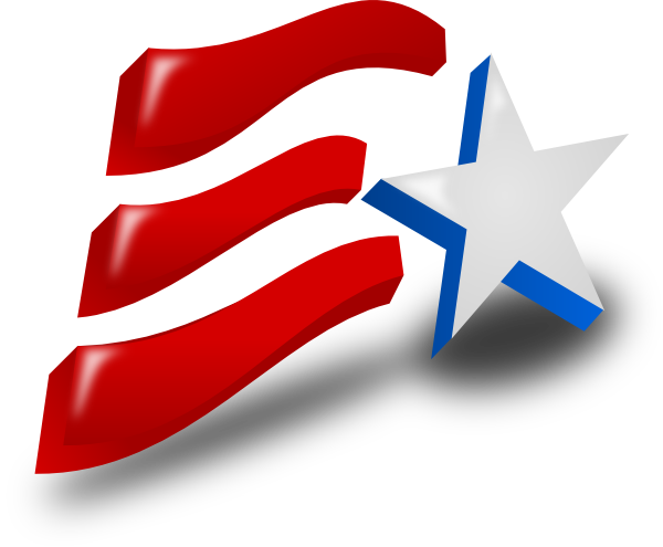 600x495 Independence Day Flag Clip Art
