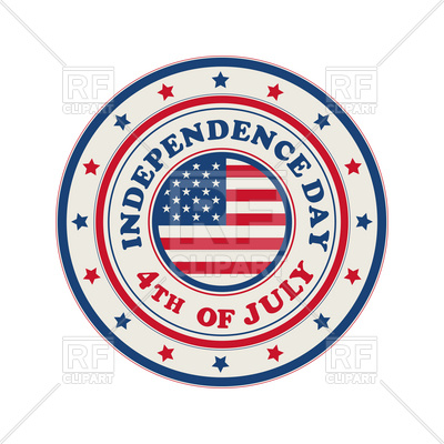 400x400 Independence Day Stamp With Usa Flag Royalty Free Vector Clip Art