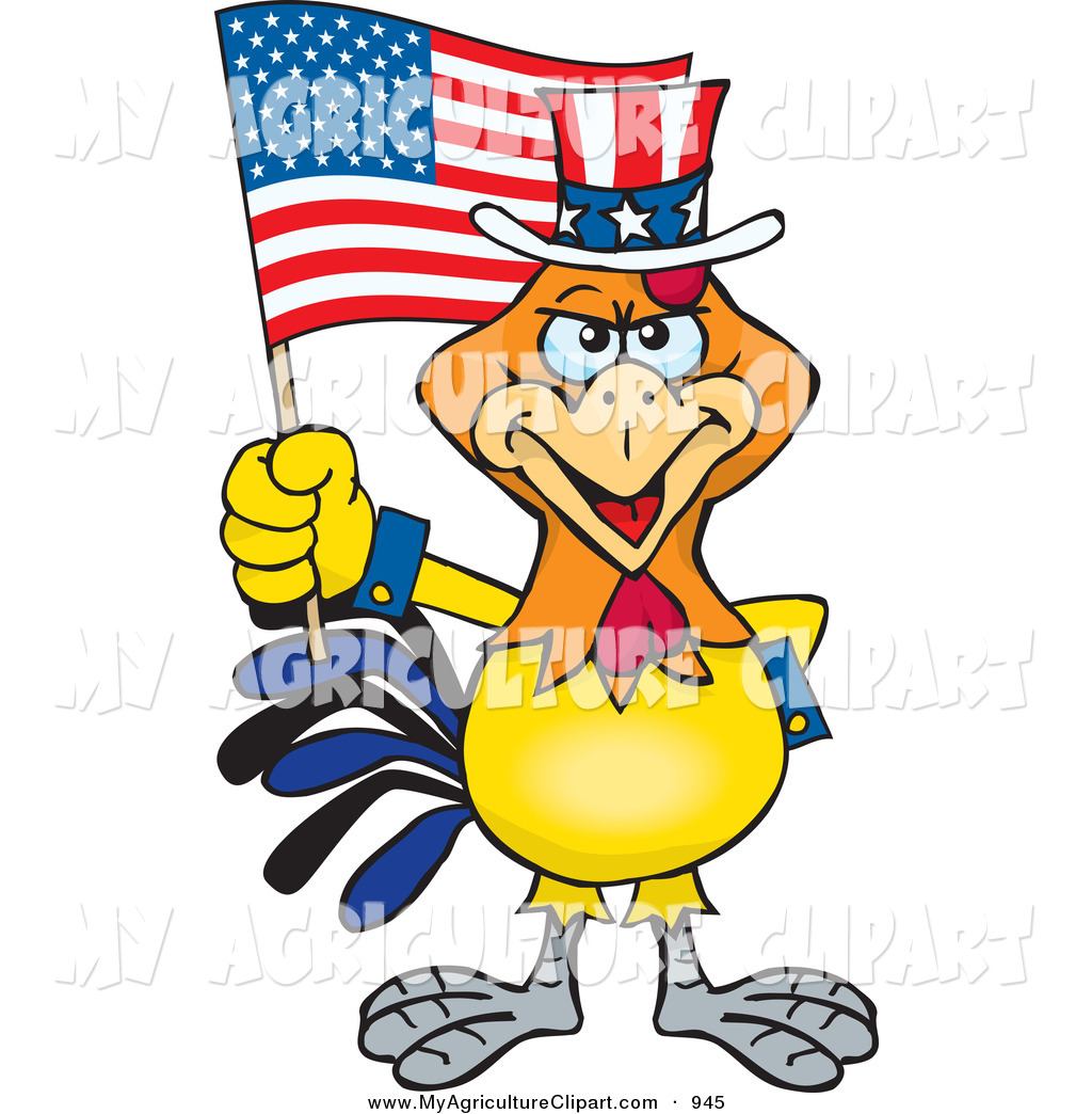 1024x1044 Vector Cartoon Agriculture Clipart Of A Straight Faced Patriotic