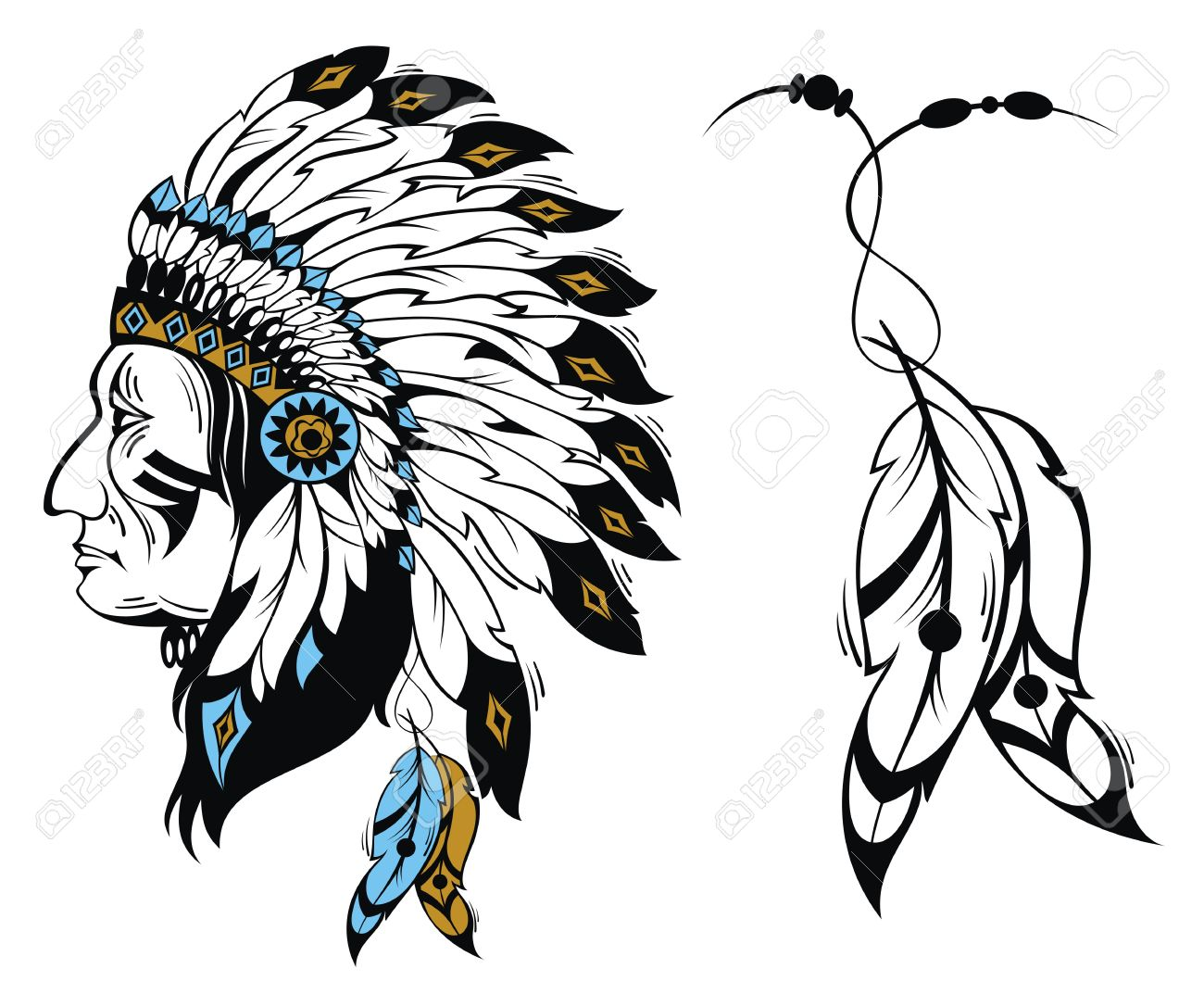 1300x1073 Headdress Clipart North American