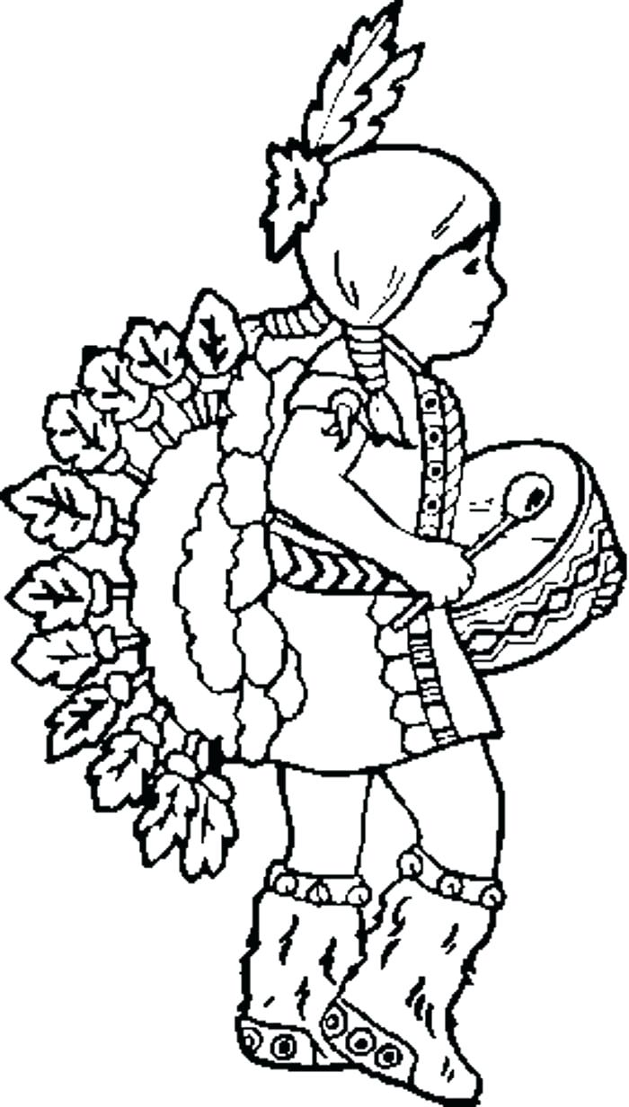 700x1232 Free Coloring Page Headdress The Feather Hat Native American
